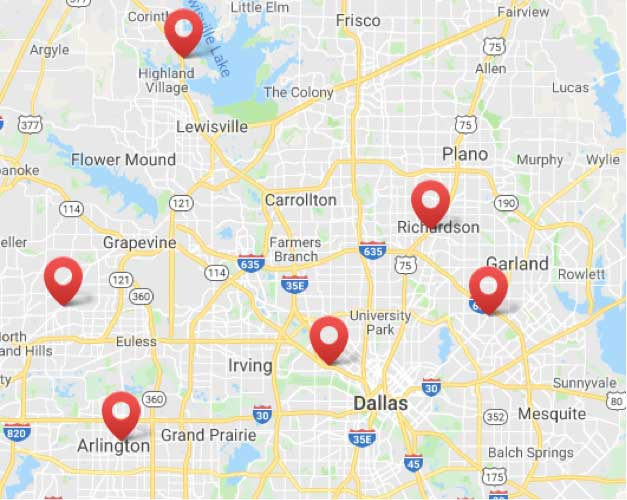 VIP Title Loans' Location in DFW Metroplex