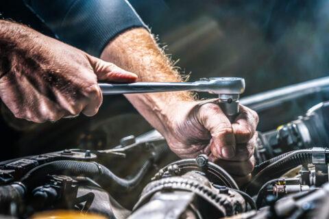 Man making repairs.